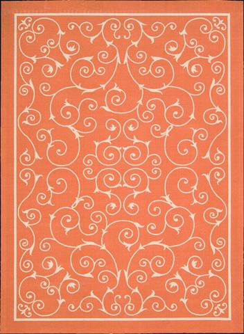 Nourison Industries, Inc. - Home and Garden Orange Rectangular Rug - 99446112064