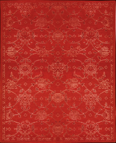 Nourison Industries, Inc. - Silk Infusion Red Rectangular Rug - 99446179616