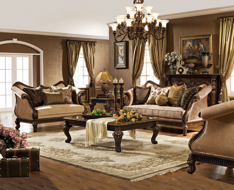 Orleans International - Upholstered Sofa with Accent Pillows - 4902-003