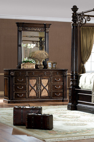 Orleans International - Le Palais Dresser with Marble Inlay - 1019-003