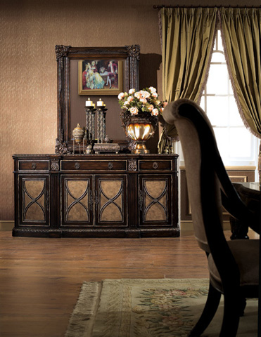 Orleans International - Le Palais Credenza with Marble Inlay - 769-005