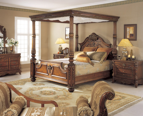 Orleans International - Renaissance Queen Bed - 939-001QC