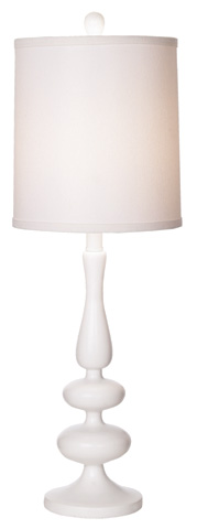 Pacific Coast Lighting - Michelle Table Lamp in White - 87-6305-70