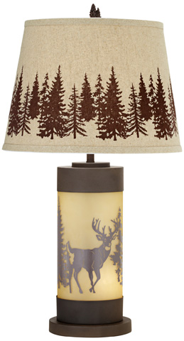 Pacific Coast Lighting - White Tail Deer Table Lamp - 87-6949-68