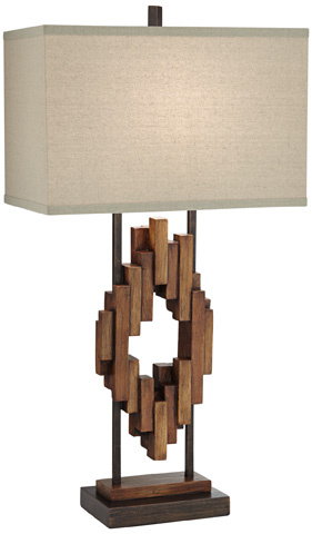 Pacific Coast Lighting - Bonanza Wood Table Lamp - 87-8032-M1