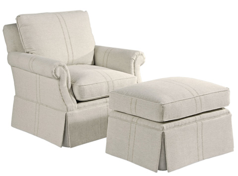 Pearson - Skirted Rolled Arm Chair - 336-00