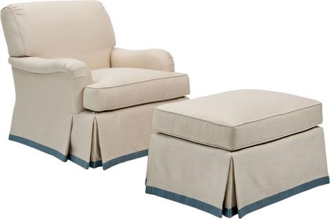 Pearson - Skirted English Arm Chair - 545-00