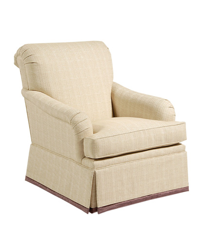 Pearson - Tailored Skirt Scroll Back Chair - 710-00