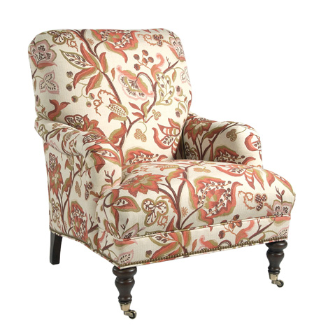 Pearson - Tight Back English Arm Chair with Casters - 805-00