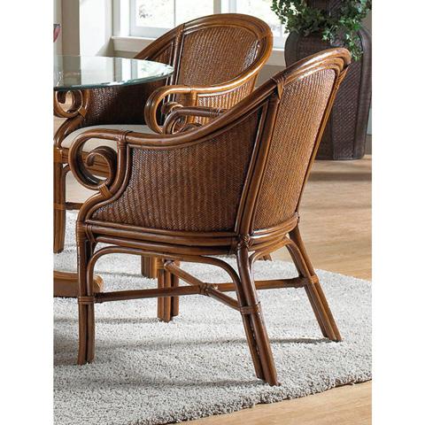 Pelican Reef - Indoor Rattan and Wicker Club Chair - 401-3364-TCA