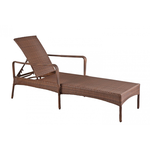 Pelican Reef - Key Biscayne Stackable Woven Chaise Lounge - PJO-7001-ATQ-CL
