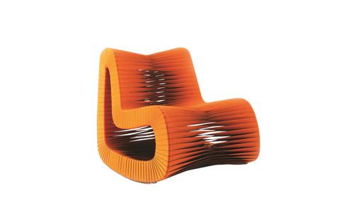 Phillips Collection - Seat Belt Rocking Chair in Orange - B2063ZZ
