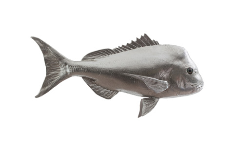 Phillips Collection - Australian Snapper Fish in Silver Leaf - PH64555