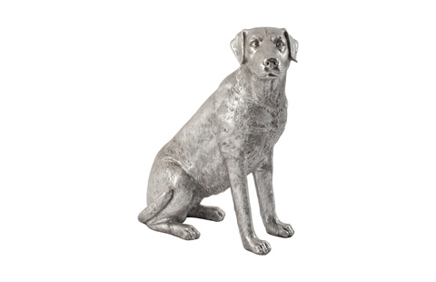 Phillips Collection - Labrador Dog in Silver Leaf - PH67116