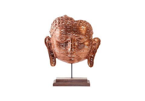 Phillips Collection - Copper Woven Buddha Face - ID66316