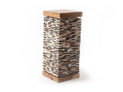 Phillips Collection - Petrified Mosaic Pedestal - ID66395