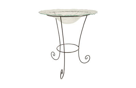 Phillips Collection - Frosted Glass Bowl on Stand - ID76852
