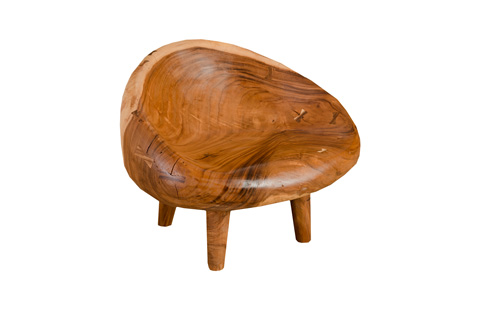 Phillips Collection - Chamcha Wood River Stone Chair - TH77900