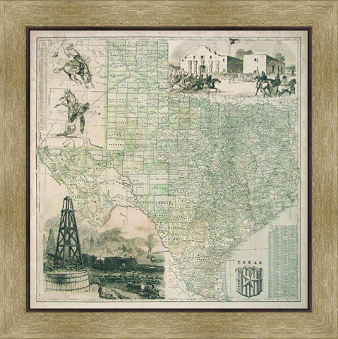 The Picture Source - Map Of Texas - CTV099