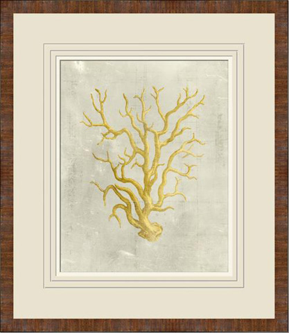 The Picture Source - Coral In Mustard - V548B