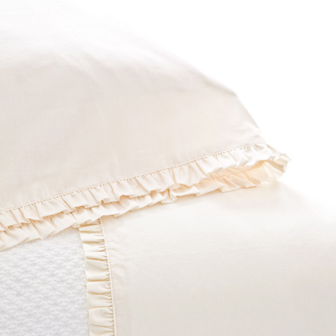 Pine Cone Hill, Inc. - Classic Ruffle Ivory Pillowcases (Pair) - Standard - SCICSS