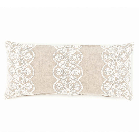 Pine Cone Hill, Inc. - French Knot Natural Decorative Pillow - FKNDPDB