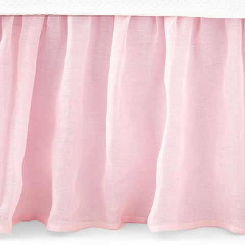 Pine Cone Hill, Inc. - Savannah Linen Gauze Blush Bed Skirt - King - SABLBSK