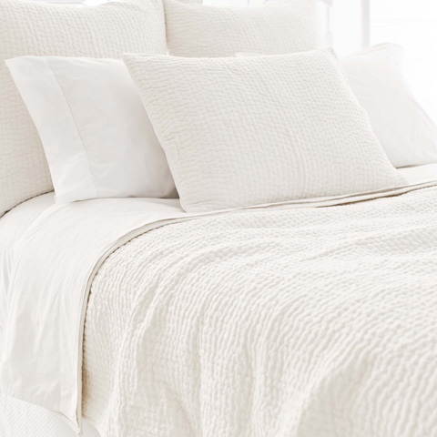 Pine Cone Hill, Inc. - Seychelles Dove White Quilt - King - Q256DWK