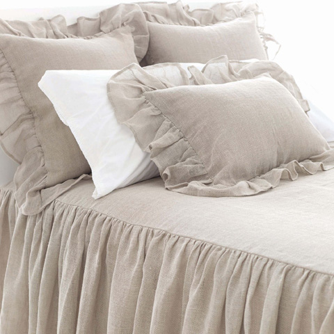 Pine Cone Hill, Inc. - Linen Mesh Natural Bedspread in Queen - LMBCQ