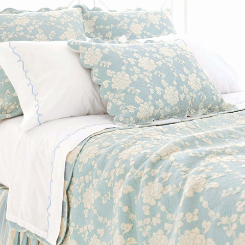 Pine Cone Hill, Inc. - Madeline Blue Quilt in Full/Queen - Q227FQ