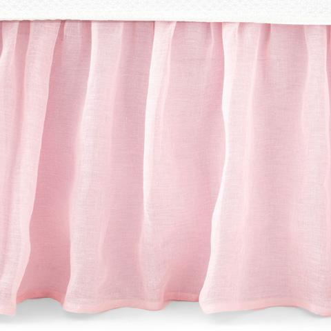 Pine Cone Hill, Inc. - Savannah Linen Gauze Blush Bed Skirt in Queen - SABLBSQ