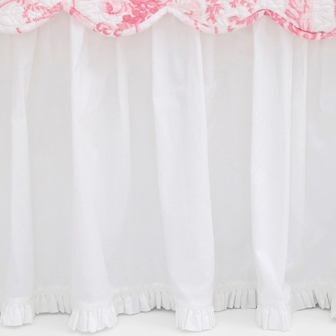 Pine Cone Hill, Inc. - Classic Ruffle White Bed Skirt in Queen - SCBSQ