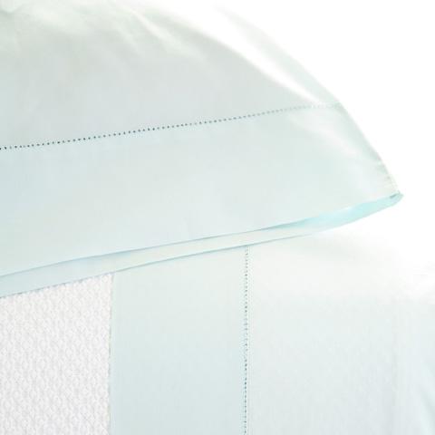 Pine Cone Hill, Inc. - Classic Hemstitch Sky Sheet Set in Queen - SCLHSKSQ
