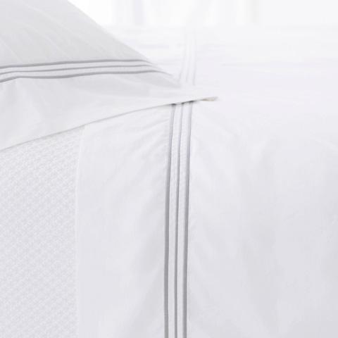 Pine Cone Hill, Inc. - Trio Pearl Grey Pair of Standard Pillowcases - TRGCSS