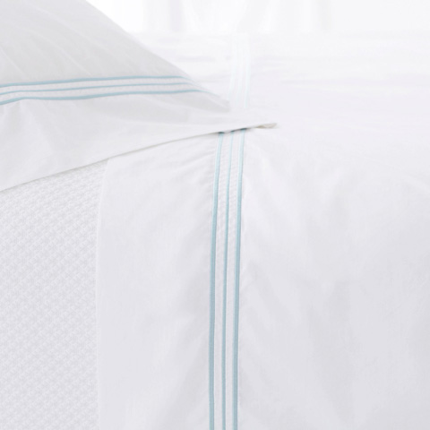 Pine Cone Hill, Inc. - Trio Sky Flat Sheet in King - TRSKFK