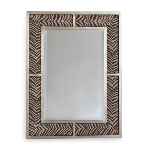 Port 68 - Bedford Silver Zebra Brown Mirror - ACFS-272-18