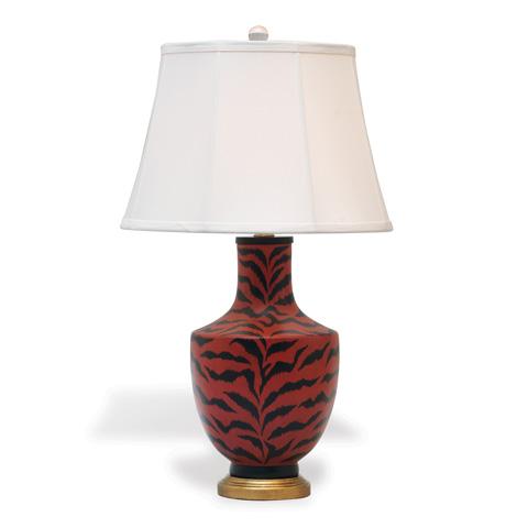 Port 68 - Le Tigre Red and Ivory Lamp - LPAS-233-03