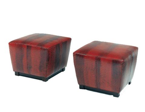Precedent - Leather Square Ottoman - L2541-O1