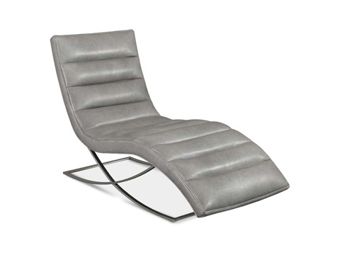 Precedent - Felix Leather Armless Chaise - L3185-CA