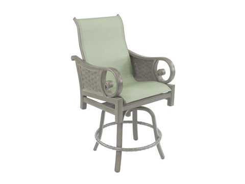 Castelle - Riviera High Back Sling Swivel Counter Stool - 9239MS