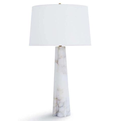 Regina Andrew Design - Alabaster Quatrefoil Lamp - 405-2101
