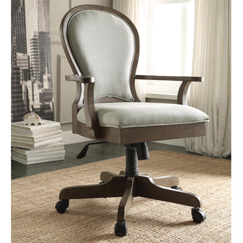 Riverside Furniture - Scroll Back Upholstered Desk Chair - 15839