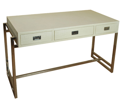 Sarreid Ltd. - Crocodile Pearl Leather Desk - 26495