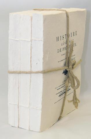 Sarreid Ltd. - Set of 3 Big XVII White Paper Books - 29463