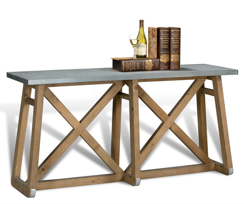 Sarreid Ltd. - Sleigh Wall Table - 28870