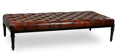 Sarreid Ltd. - Groupage Leather Bench - 29558
