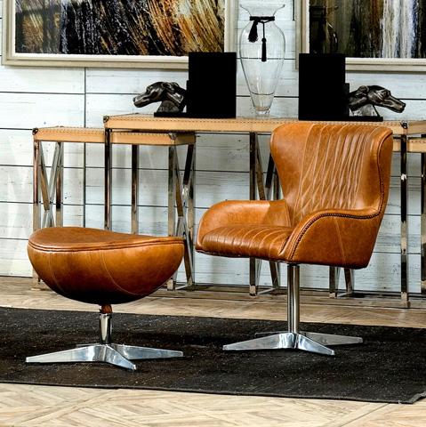 Sarreid Ltd. - Disel Swivel Arm Chair - 29778