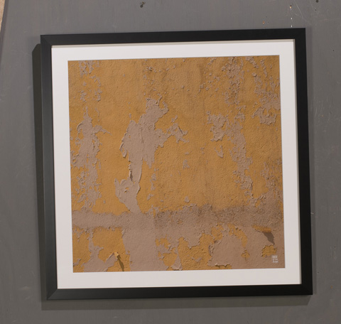 Sarreid Ltd. - Yellow Peeling Paint Giclee Print - 30186