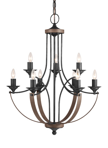 Sea Gull Lighting - Nine Light Chandelier - 3280409-846