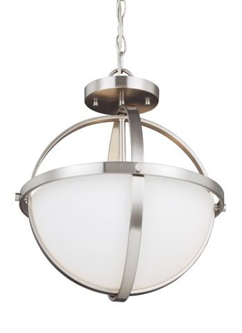 Sea Gull Lighting - Two Light Semi-Flush Convertible Pendant - 7724602-962
